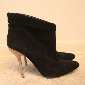 ALDO  Black Suede Ankle Boots/Booties
